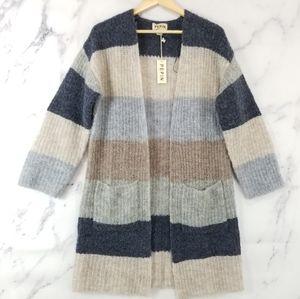 New ANTHROPOLOGIE Pepin Striped Cardigan Sweater
